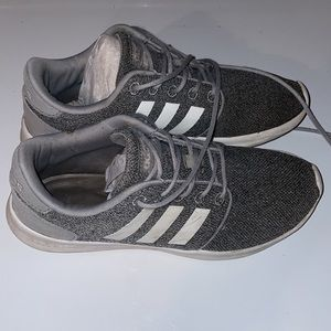 Adidas women's size 6.5 Grey with white stripes UC